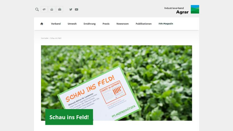 "Website der Aktion ""Schau ins Feld!"". Screenshot: GABOT."