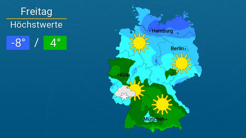 Glatteis - Unwetterwarnung für den Südwesten