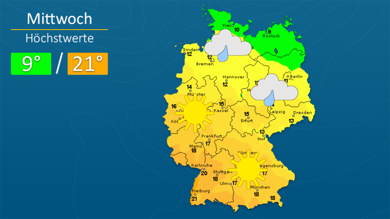 Wetter für München: Es wird wärmer - trotzdem bleibt es nass