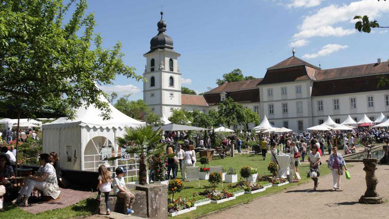 schloss fasanerie besucher auf dem gartenfest. Black Bedroom Furniture Sets. Home Design Ideas