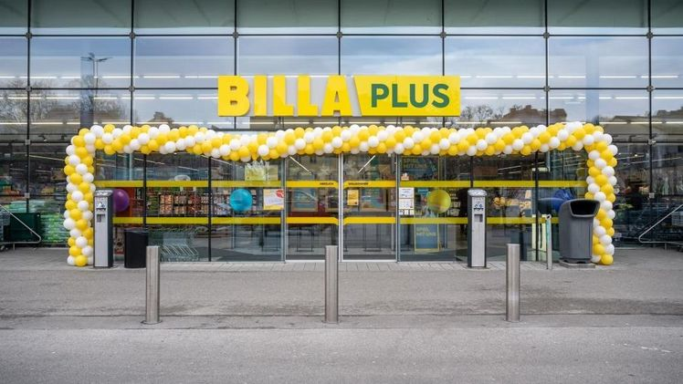 MERKUR ist seit 6. April 2021 BILLA PLUS / Copyright: REWE Group / Harson.