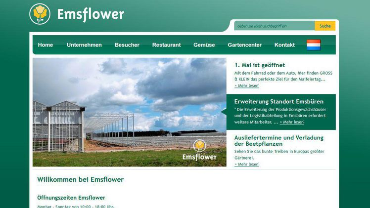 Screenshot Emsflower.de