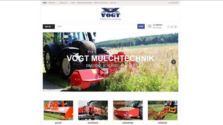 Website von Vogt. Screenshot: GABOT.